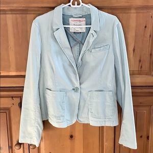 Cartonnier Anthropologie  pale blue blazer